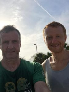 My Dad and I after an 8-mile run in Bradenton, Fla in March.
